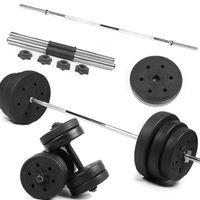 2 pcs Plástico revestido com dumbbell comprimidos robustos Dumbell peça muscular exercício de fitness Equipamento de fitness (1,5 kg / pc Diâmetro 2.8mm preto)