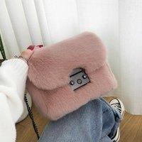 Taschen Handtasche Schulter Crossbody 2020 Herbst Plüsch All Match Wintertaschen Damenmode Mode Underarm Taschen Pelz und kleiner NMPIM