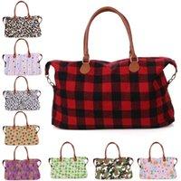 33 style 22 inch Buffalo Check handbag Red Black White Plaid Bags Large Capacity travel Tote storage Maternity bag JJ721