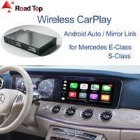 CarPlay اللاسلكية لسيارات مرسيدس بنز الفئة- E W213 S-كلاس W222 2014-2018، مع الروبوت السيارات مرآة اللعب وظائف وصلة البث السيارات