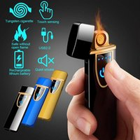 Zinc Alloy 35g Portable Windproof Flamless Touch Screen Swit...