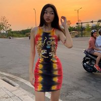 Womens Sexy Dresses Fashion Tiger Pattern Long Vest 2020 New...