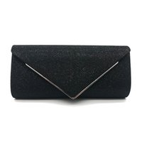 النساء رفرف الإبهار الأكمام مساء حقيبة حقيبة لون الصلبة المحفظة مع سلسلة قابل للفصل الجديد