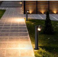 JML LED 잔디 야외 유선 방수 잔디가 9W COB 칩 따뜻한 흰색 정원 통과 방법 조명 램프 점등