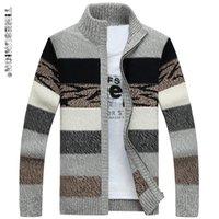 TIMESUNION Herrenstrickpullis Strickjacken Kragen-Winter Wollpullover Mode Strickjacken Männer Pullover Mantel Marke Herrenbekleidung