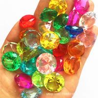 50pcs / lot 20MM Faux diamante Gioielli tesoro pirata cristallo acrilico gemme Filler Toys Props di favore di partito Confetti Wedding le decorazioni