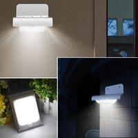 16 LEDs SMD3528 100LM Energia lâmpada LED impermeável ao ar livre com infravermelho indução Luz LED Solar Wall Light