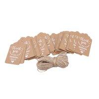 Tarjetas de felicitación 50 unids / paquete Vintage Kraft Papel Regalo de la boda Tarjeta de boda AMOR MUCHAS GRACIAS TAG Decoration Crafts