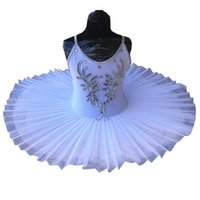 Weißer Bauch Kleid Kinder Schwanensee Kostüm Kinder Ballettröckchen für Mädchen-Tanz-Kostüm-Stadiums Professionelle ballt Tutu-Kleid CX200818