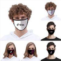 Lindo máscara Tik Tok 2020 Moda de seda del hielo a prueba de polvo lavable Máscara Soporte Tik Tok Uso anti Haze Máscara DDA347
