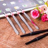 Acero inoxidable pequeño clip de la ceja del acero inoxidable pinzas de la ceja cosmético compone de herramientas Herramientas de cejas