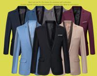 Hommes costume blazer style coréen slim cardigan jaquetta taille de mariage S-6XL Super Plus taille 6 couleurs