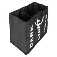 Сортировщик прачечной Waco, 3 решетка большая емкость прачечная корзина корзина с ручками, складной портативный ванная комната грязная сумка для одежды, черный