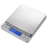 Venta caliente cocina Digital Escalas electrónicos portátiles de bolsillo LCD de precisión joyería de la escala del peso de balance de cocina Herramientas de cocina libre de DHL