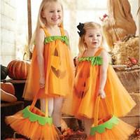Halloween Gaze-Kleid-Kürbis-Gesicht Cosplay Kleider Kind-Baby-Prinzessin Festival-Partei-Kleid-Kind-Kleidung Tüllrock E9201