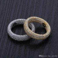 925 Argento Anelli Anelli di fidanzamento di nozze set Hip Hop designer di gioielli uomini zircone anello di amore Iced Out Charms