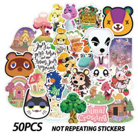 50 unids / lote Pegatinas de cruce de animales lindo Anime Vinyl Impermeable Dibujos animados Etiqueta engomada para la botella de agua, computadora portátil, estuche de teléfono, monopatín, equipaje, libro DIY calcomanías