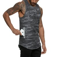 Shirt senza maniche T 2020 nuovi uomini di estate delle parti superiori della maglia ad asciugatura rapida traspirante Camouflage Sport Fitness Training canotte