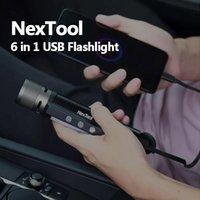 Originale Youpin NexTool 6 in 1 USB torcia elettrica ricaricabile 240m IPX4 impermeabile torcia a LED di tipo C Ricerca Pila per caccia
