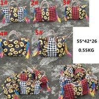 Checkered Bag Plaid Handbag Tote Weekender Handle Women Large Designer Vintage Duffle D81904 Travel Patchwork Sunflower Shoulder Ba Ssdqt