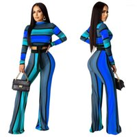 Tops With Wide Leg Pants Suits Females Fashion Sets Womens 2...