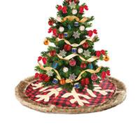 Yılbaşı Ağacı Etek Kırmızı Ekose kar tanesi Ağacı Etekler Pencere Yılbaşı Noel Dekor Hediye Festivali HHA1508 Malzemeleri