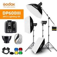 Lampeggia 1800W Godox DP600III 3x 600WS PO studio flash illuminazione, softbox, stand leggero, braccio del braccio