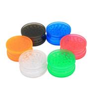 라운드 그라인더 플라스틱 흡연 그라인더에게 액세서리 CCA12417의 120pcs 흡연 그라인더 투명 플라스틱 밀스 흡연 3 개 레이어 모양