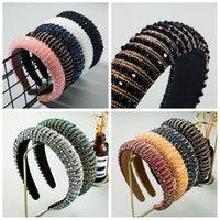 kadınlar FFA4400 için Kadınlar Baş Bezel Saç Hoop Yapay elmas moda Headbands için 11styles Kristal Boncuklu Hairband Gökkuşağı Çiçek