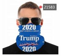 2020 États-Unis Donald Trump Seamless Neck Gaiter Shield écharpe Bandana Masques Protection du visage UV pour la moto Cyclisme Équitation Courir Bandeaux