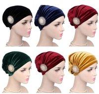 Hindistan Stil Şapka İç Cap Müslüman Kadınlar Kadife Turban Başörtüsü İslam Bonnet kasketleri Saç Dökülmesine Başkanı Wrap Arap Ramazan Moda