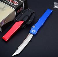 """Oferta Especial 5 Halo clássico Estilo Microtech Preto V Tanto lâmina de faca (4.6"""" Cetim) 150-4 facas única ação Auto tático faca de sobrevivência"""