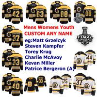 2019 Stanley Cup Final Boston Bruins Formalar Brendan Gaunce Jersey Bjork Charlie COLY Debrusk Backes Hokey Formaları Bayan Özel Dikişli