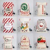 Elk Sled Sac à cordonnet lourd Pouch Père Noël Joyeux Sacks Décorations de Noël Ornements 2020 Toile Snack cadeau 50 * 70cm 10 9bya C2