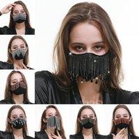 Máscara contra el polvo de la cara triangular de la borla de la boca del respirador reutilizable lavable de protección Mascarilla Negro Cristal muchacha del algodón del paño muchacho de 16 5RG B2
