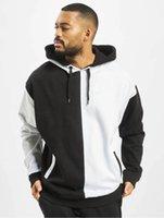 Hoodies Patchwork Color Man Hooded Sweatshirts Long Sleeve Loose Homme Clothes Designer Men