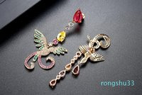 Hot Sale 2018 United States charm Earrings phoenix colorful love earrings Jewelry For Women Party Gift .20 pcs 10 pair Free shipping 160