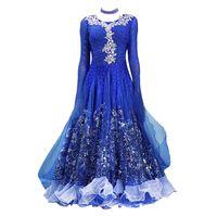 Sequin embroidered ballroom dress standard dance dress rumba tango dance costumes for women waltz for ballroom dancing