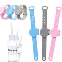 Hand Sanitizer Silikon nachfüllbar Armband Wearable Hand Sanitizer Dispenser Pumpen Hand Sanitizer Armband für Reisen DWC1917