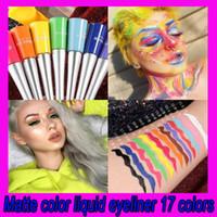 .Cublique néon vert blanc blanc mate crayon étanche maquillage étanche maquillage liquide doublure bleu vert yeux jaune yeux cosmétiques stylo 17 couleurs