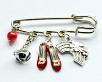Красные тапочки броши для женщин простой дизайн Wizard Oz Alice в чудесных ювелирных изделий свадебные булавки и броши высокого качества брош