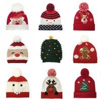 Noel Şapka Noel kar tanesi Örme Kış Sıcak Tam Ball Cap İçin Yetişkin Çocuk Tığ Kış Şapka Noel ev dekorasyon LSK961 Caps