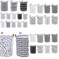 INS Saklama Sepetleri Kutuları Çamaşır Sepet Sepet Depolama Giyim Organizatör Çamaşır Çanta Polka Dot Çamaşır KKA8040