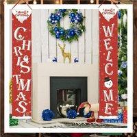 2020 di Natale di Halloween Couplet Banner Porta Portico Segno Hotselling Vacanze di Natale decorazione d'attaccatura del portico segno decorativo Family Party