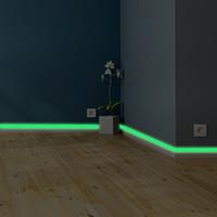 발광 밴드베이스 보드 벽 스티커 거실 침실 환경 친화적 인 가정 장식 데칼 글로우 어둠 DIY 스트립 스티커에