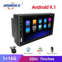 Jmance 2 Din 7 '' Araba Radyo Android Oyuncu GPS Multimedya Oto Radyo Dokunmatik Ekran Bluetooth FM WIFI USB Ses Stereo MirrorLink Araba DVD