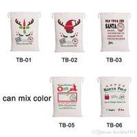 أكياس عيد الميلاد 5 تصاميم الرباط قماش سانتا كلوز حقيبة كيس هدية للديكور chirldren