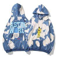 Travis Scott Astroworld Europeu e marca de moda de rua americano tie-dye homens e mulheres soltas casal camisola mangas compridas