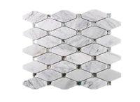 2020 sıcak satış Geometrik elmas mozaik cam + doğal mermer taş mozaik çini TV arka plan duvar Mozaik A01 çinileri