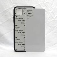 Blank 2D Sublimation Case TPU + PC Custodia per il trasferimento del calore Custodie per iPhone 12 Mini 11 Pro Max 7 8 Plus X XS XR